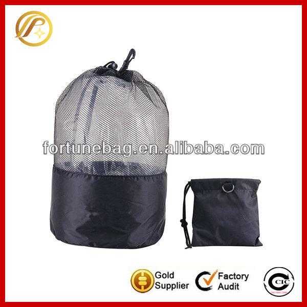 Shenzhen wholesale drawstring mesh tote bag