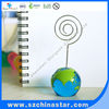 Round shape name card holder with clips/fashion memo holder/promotional supplies