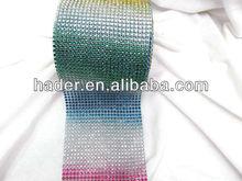 Colorful plastic shoes accessories rhinestone mesh trims