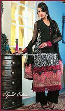 Black designer shalwar kameez Material
