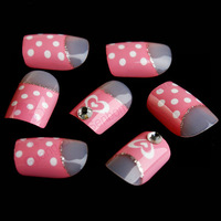 Pretty girl beautiful design false nail tips 3D fake nails