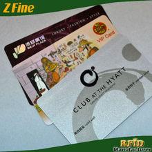 HOT!!!RFID Glossy finish/glossy lamination Smart Card