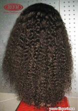 2014 Christmas hotsale unprocessed wholesale indian remy virgin hair half wig
