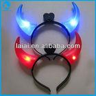 LED flashing red devil horns