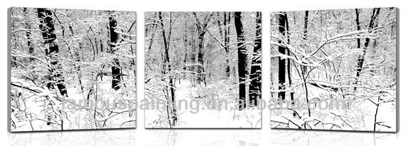 Peintures paysages d'hiver, peintures paysages de neige, modernes peintures sans cadre