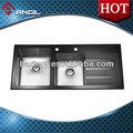 Alta qualidade do painel de vidro canto arredondado para pia de cozinha an-tg13050