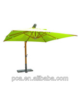 2013 hot sale big wooden hangning umbrella for 3x3m without flap