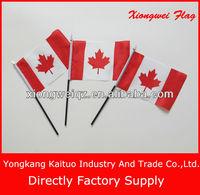 Wholesale plastic flag pole Canada hand held flags