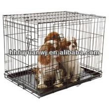 Foldable Suitcase Wire Metal Folding Pet Cage Crate Dog Cage Kennel