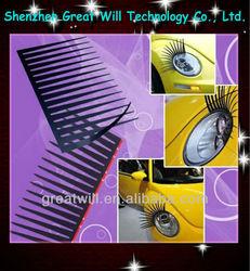 3d car headlight eyelashes with diamond