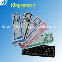 Beauty niversal silicone waterproof dustproof,portable keyboard for laptop
