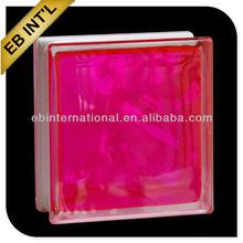 hollow pink glass blocks and bricks, decorative glass blocks