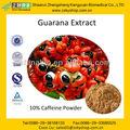 100% Natrual guaraná extrato cafeína