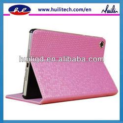 High grade material PU leather smart case for ipad mini