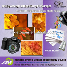 inkjet roll glossy photo paper , large paper rolls factory 115g-260g