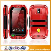 "Newest Model Ca-09 Car Shape Dul Sim FM WIFI 2.6"" touch screen tv cheap GSM smartphone 2013 very small telefonos celulares"