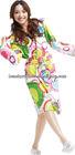 Adult's Colorful Microfiber reactive printed bath robes