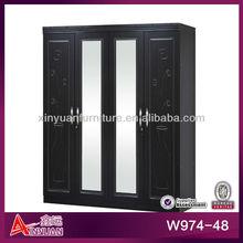 W974-48 wooden 4 door indian bedroom furniture