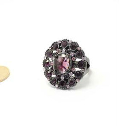 Europe and the United States purple glamour exaggerated import a diamond wedding ring jewelry