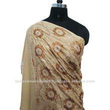 Mantón bordado Cachemira puro amarillento de Pashmina de las lanas del 100%