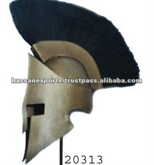 Miniatura 300 Spartan casco con negro Plume