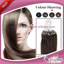 Factory micro loop hair extensions/micro bead brazilian hair extension/double bead brazilian micro ring loop hair extensions