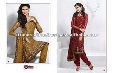Brown & Red Exclusive Designer Wear salwar suit Material