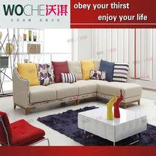 WOCHE fabric corner sofa set design,sofa fabric denim fabric upholstery fabric,italian furniture designers WQ8997