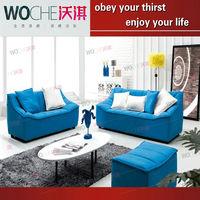 WOCHE fabric 3 2 1 sofas sets,fabric double recliner sofa,fabric sofas headrest WQ8806