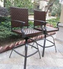 outdoor wicker swivel bar stools