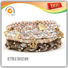 Hot sale Bracelet Braided Bracelets with Pendants Stack Bracelet