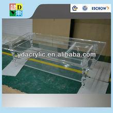 New style rectangular clear acrylic dining table