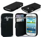wallet leather case cover for I8190 samsung galaxy s3 i9300 mini