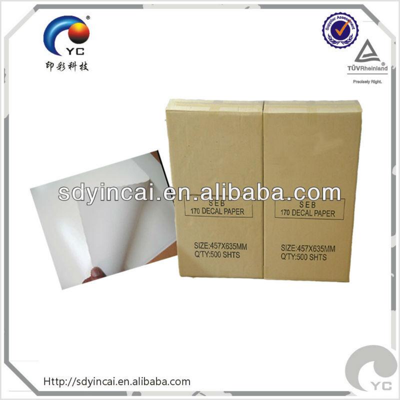 Blanc papier de transfert pour laser / jet d'encre / sérigraphie