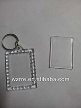 blank keyring photo frame acrylic keychain
