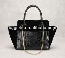 Vintage Women Designer Ladies Fashion Bags Black and White Handbag Luxury Collection