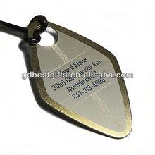 Custom engraved titanium unique luggage tags