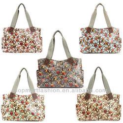 owl print Oilcloth Shoulder bag Tote Shopper Day Bag Women handbag