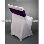 cheap chair covers for folding chairs,Lycra/Spandex chair cover with sash for wedding and banquet