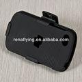 cubierta del teléfono móvil con clip de cinturón caso por caso de la armadura para blackberry q10 con pata de cabra