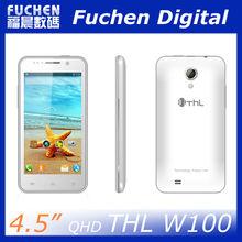 4.5 inch Smart Phone MT6589 Quad Core 3G Android 4.2,4.5 QHD Screen THL W100 Smart Phone