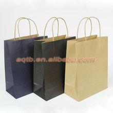 customer logo printed kraft paper shopping bag