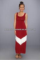 OEM new fashion zig zag Gabriella Rocha Game Day Tank chevron maxi dress
