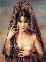 Handmade Sexy indonesian nude oil painting