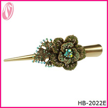 Antique gold Bronze Decorative Hair Pins beak clip For Lady