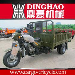 motorized flatbed trike with cargo box