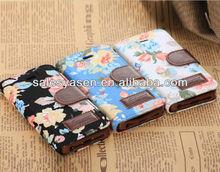 Hot selling leather belt clip flip wallet case for iphone 5