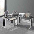 Glass Top corner Computer Desk CT-3807