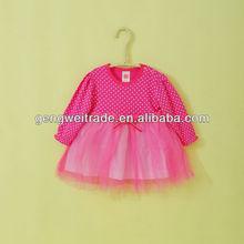 Long Sleeve Dot Lace Dress Cotton Baby Girl Dresses