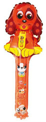60cm Lucky Dog Clapper Stick Balloons 20pcs/bag CE Approved